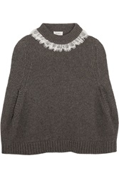 Isa Arfen Lace Trimmed Wool And Alpaca Blend Cape