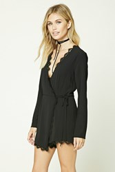 Forever 21 Contemporary Wrap Front Romper