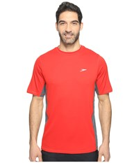Speedo Longview Swim Tee Atomic Red Men's Swimwear Orange