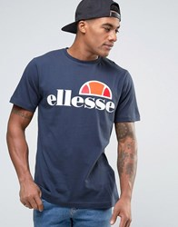 Ellesse T Shirt With Classic Logo Navy