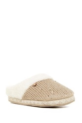 Roxy Sleigh Love Iii Faux Fur Lined Slipper Brown
