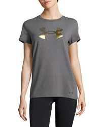 Under Armour Solid Cotton Tee Carbon Heather