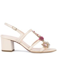 Oscar De La Renta Pager Sandals White