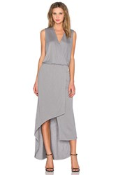Lanston Surplice Maxi Dress Gray
