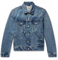 J.Crew Indigo Dyed Denim Jacket Mid Denim