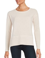 Lord And Taylor Long Sleeve Cashmere Pullover Champagne