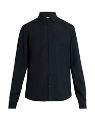 Christophe Lemaire Single Cuff Twill Shirt Dark Navy