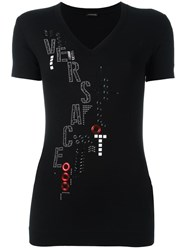 Versace Abstract Embroidery Top Black