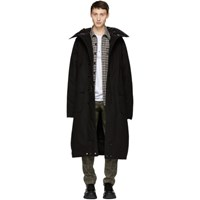 R 13 R13 Black Long Anorak Puffer Jacket