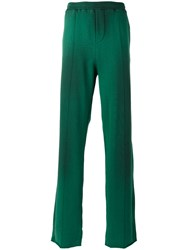 Msgm Elasticated Waistband Track Pants Men Cotton S Green