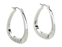 Guess Logo Triangular Hoops Silver Earring