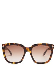 Tom Ford Sunglasses Amarra Acetate Tortoiseshell