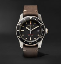 Bremont Supermarine Type 301 Automatic Chronometer 40Mm Stainless Steel And Leather Watch Silver