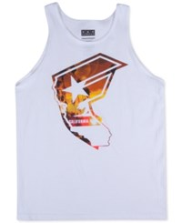 Famous Stars And Straps Famous Stars And Straps Men's Cali Boh Sunset Graphic Print Tank White