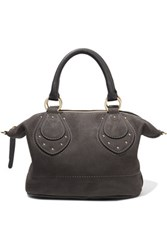 See By Chloe Janis Textured Nubuck Tote Dark Gray