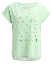 Venice Beach Katie Print Tshirt Lindgreen Turquoise