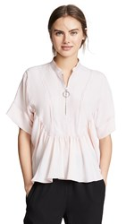 Cedric Charlier Puff Sleeve Blouse Pink