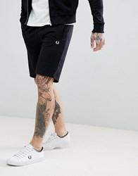 Fred Perry Panel Sweat Shorts In Black