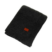 Gant Zigzag Knit Throw Antracite