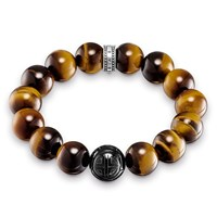 Thomas Sabo Tiger S Eye Stretch Power Bracelet Metallic