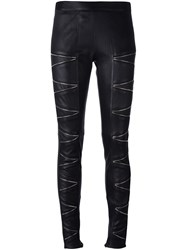 Philipp Plein 'On And On' Skinny Trousers Black