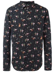 Paul Smith Ps By Dancer Print Shirt Black