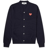 Comme Des Garcons Play Red Heart Cardigan Blue