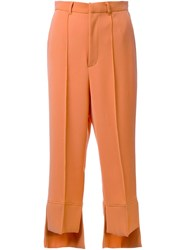 G.V.G.V. 'High Low Hem' Trousers Yellow Orange