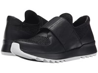 Eileen Fisher Wing Black Oiled Leather Sport Woven Women's Shoes