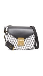 Mcm Patricia Rombi Shoulder Bag Black White Rombi