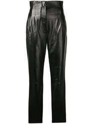 Alberta Ferretti High Waisted Trousers Black
