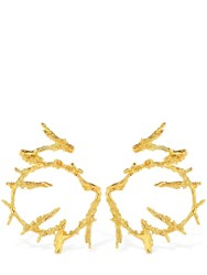 Loveness Lee Maze Hoop Earrings Gold