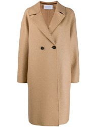 Harris Wharf London Double Breasted Buttoned Coat Neutrals