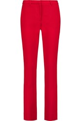 Goat Austin Wool Crepe Slim Leg Pants Red