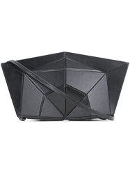 Lamat Structured Geometric Clutch Women Calf Leather One Size Black