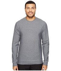 Onzie Crew Neck Pullover Charcoal Herringbone Men's Long Sleeve Pullover Black