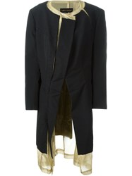Comme Des Gara Ons Vintage Layered Coat Black