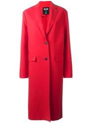 Msgm Two Button Coat Red
