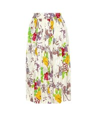 Etro Printed Silk Blend Skirt Multicoloured