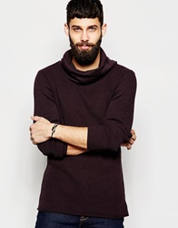 River Island Cowl Neck Jumper Berry