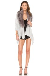 Heartloom Faux Fur Amber Sweater Gray