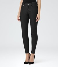 Reiss Stevie Coated Womens Coated Skinny Jeans In Black
