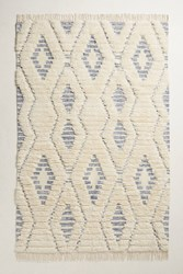 Anthropologie Striped Diamond Rug Neutral Motif
