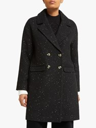 John Lewis Collection Weekend By Double Breasted Coat Black Gold