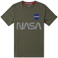 Alpha Industries Nasa Reflective Tee Green