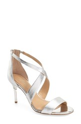 Imagine By Vince Camuto Women's 'Pascal 2' Strappy Evening Sandal Platinum Leather