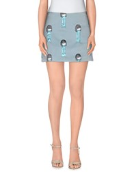 Au Jour Le Jour Skirts Mini Skirts Women Sky Blue