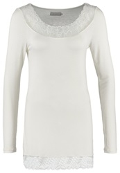 Cream Florence Long Sleeved Top Chalk Off White
