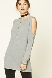 Forever 21 Longline Open Shoulder Sweater