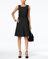 Nine West The Essential Belted Fit And Flare Dress Black